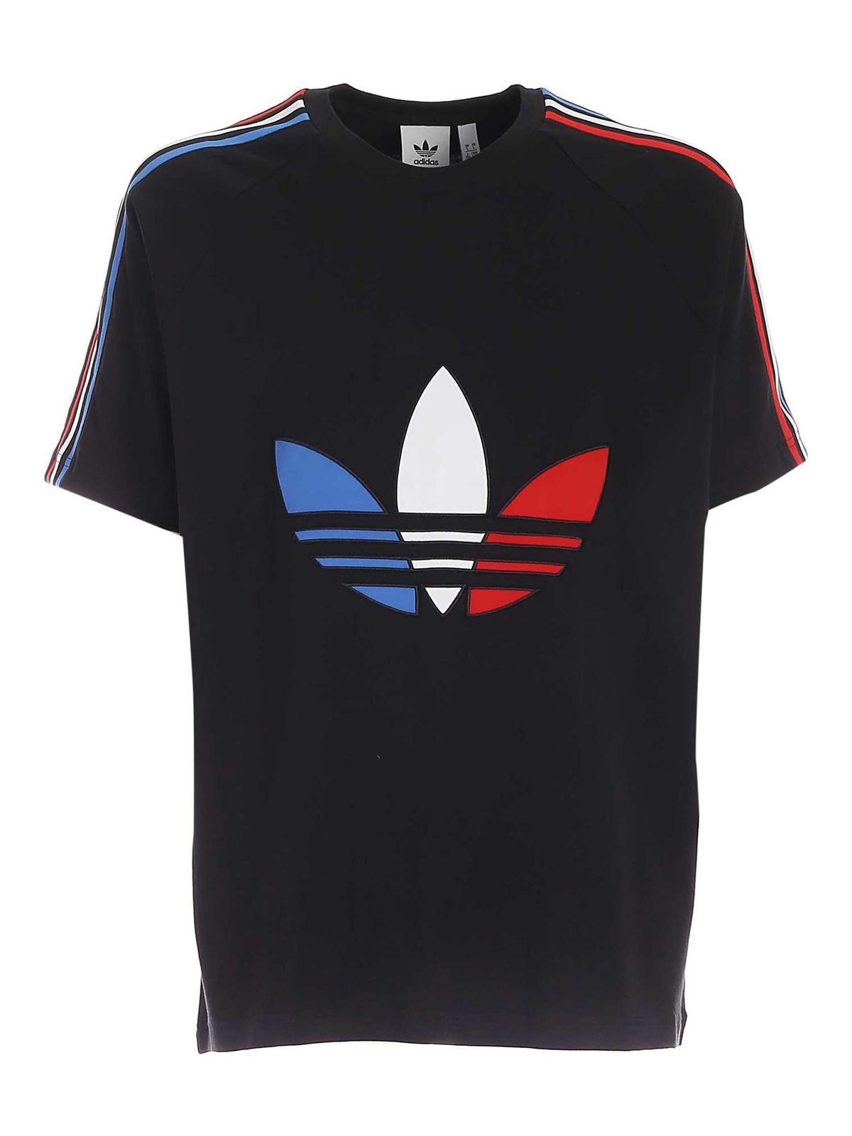 Adidas Originals Tricol T-shirt In Black