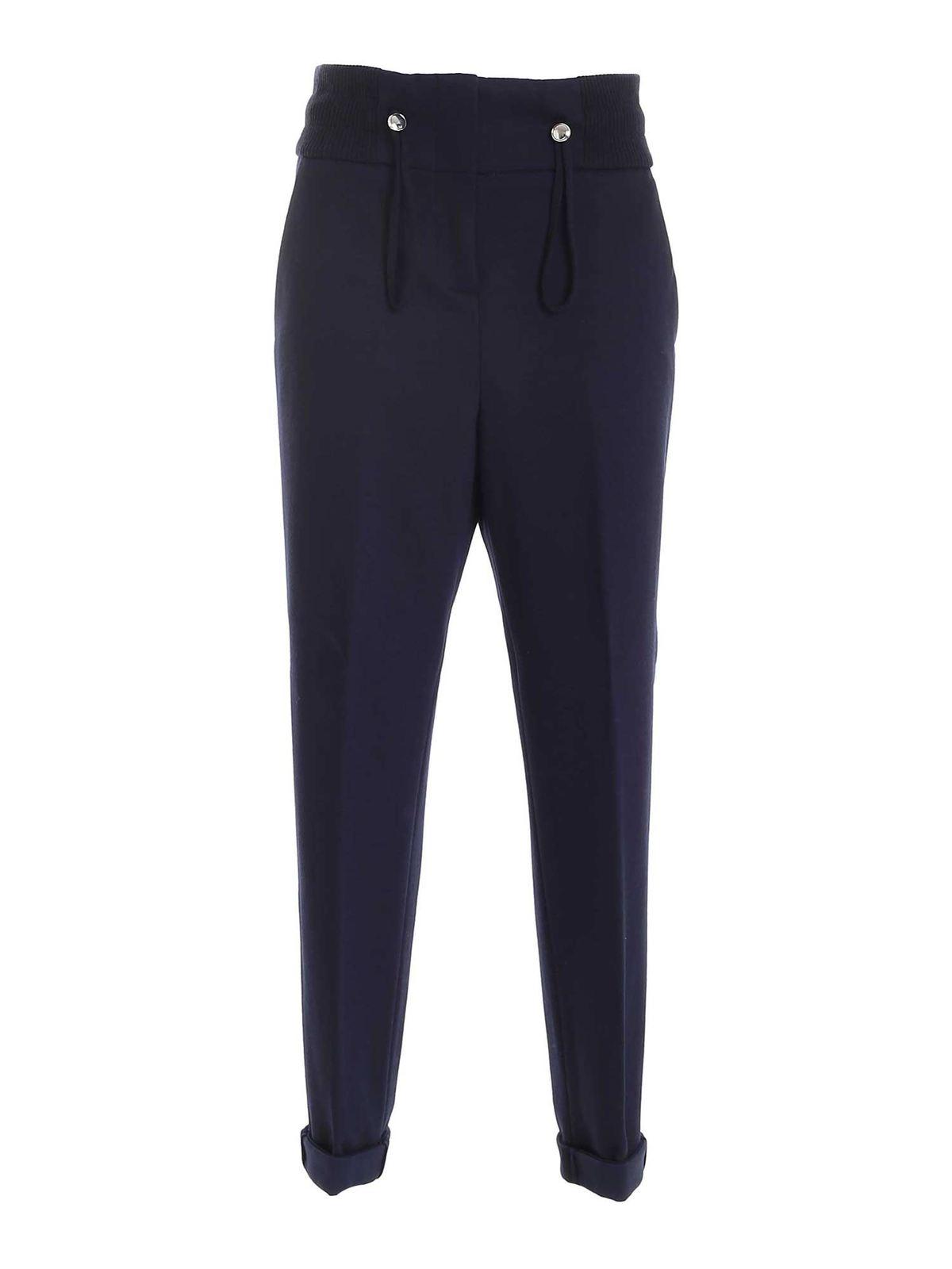 Peserico Drawstring Pants In Blue