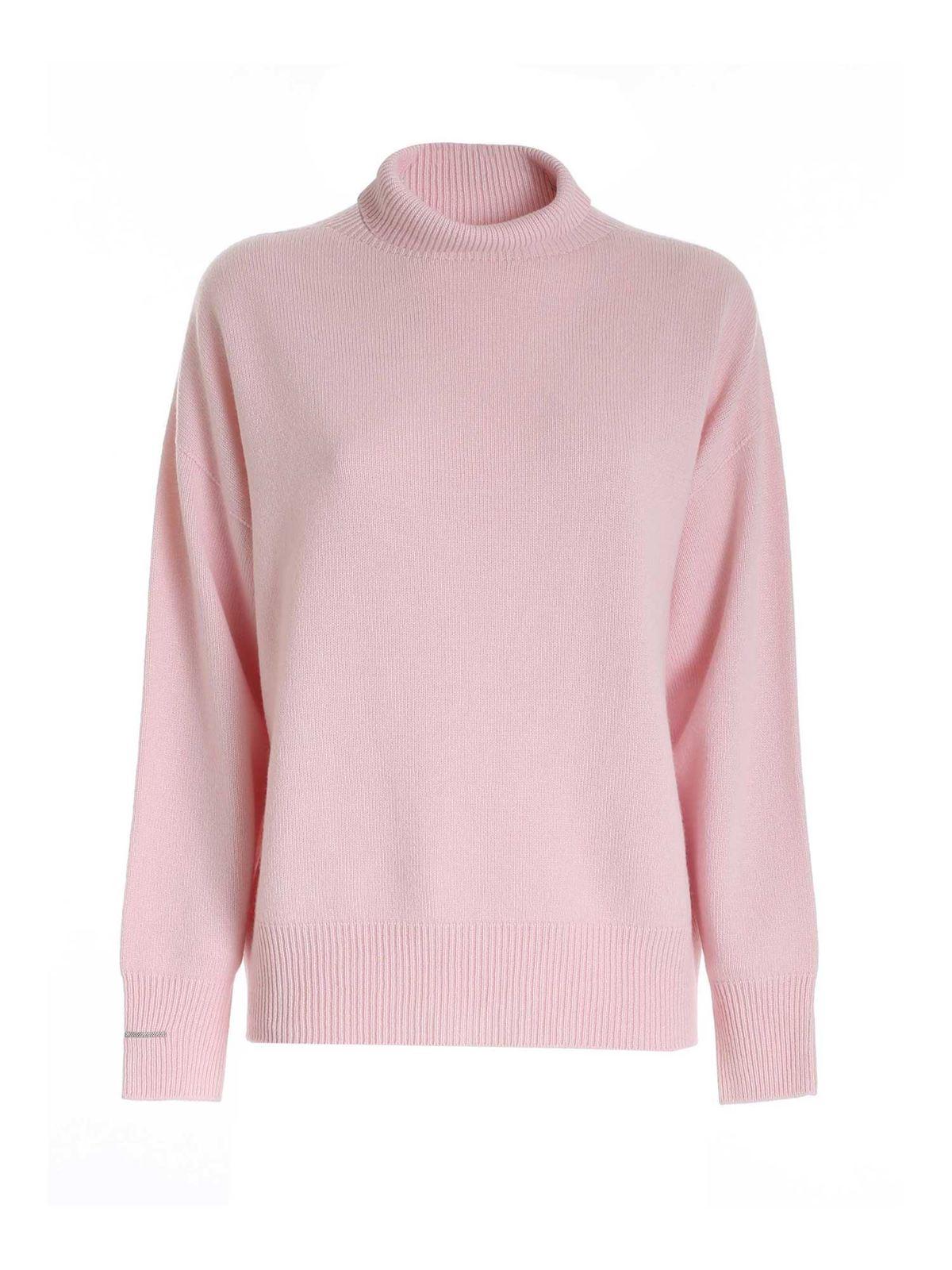 Peserico Knit Turtleneck In Pink