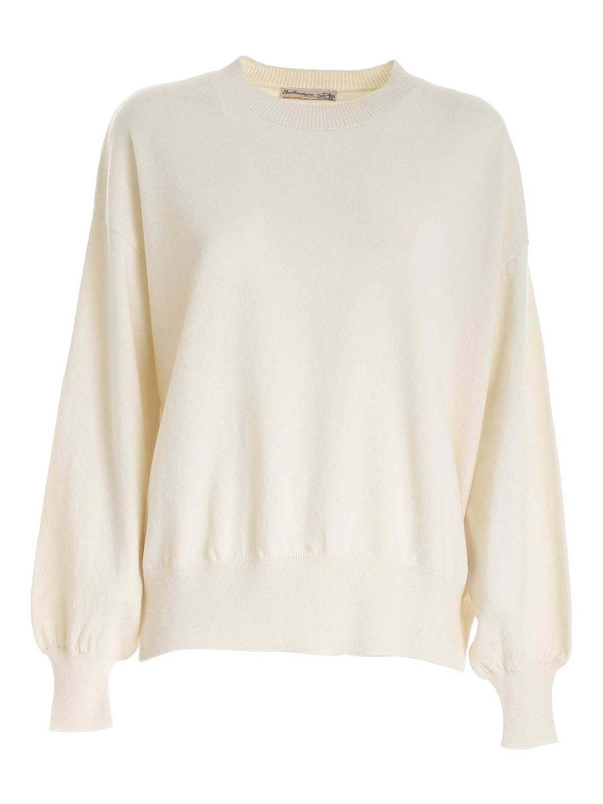 Ballantyne Crewneck Sweater In White