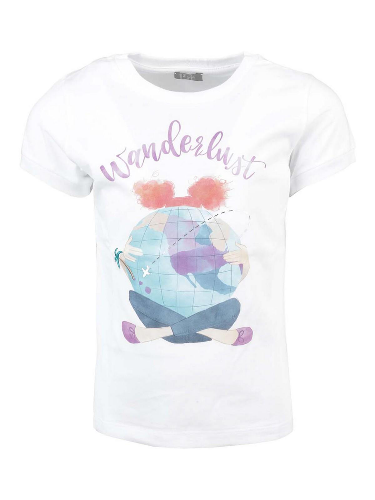 Il Gufo Kids' Wanderlust Print T-shirt In White
