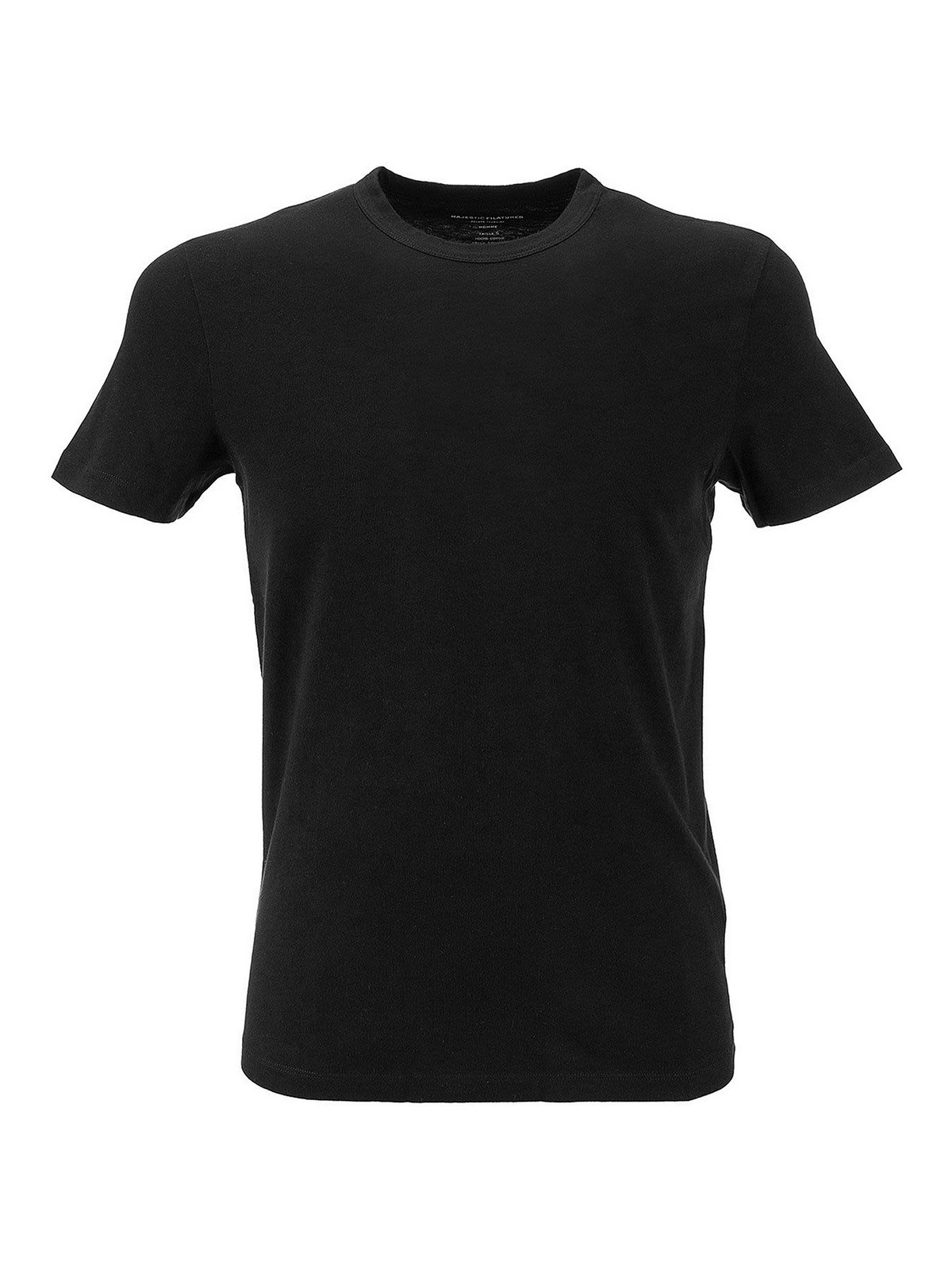 Majestic Cotton T-shirt In Black