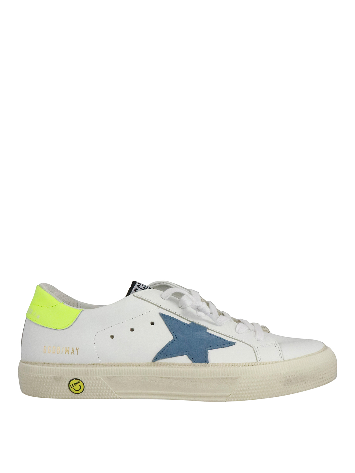 Golden Goose Kids' May Sneakers In White