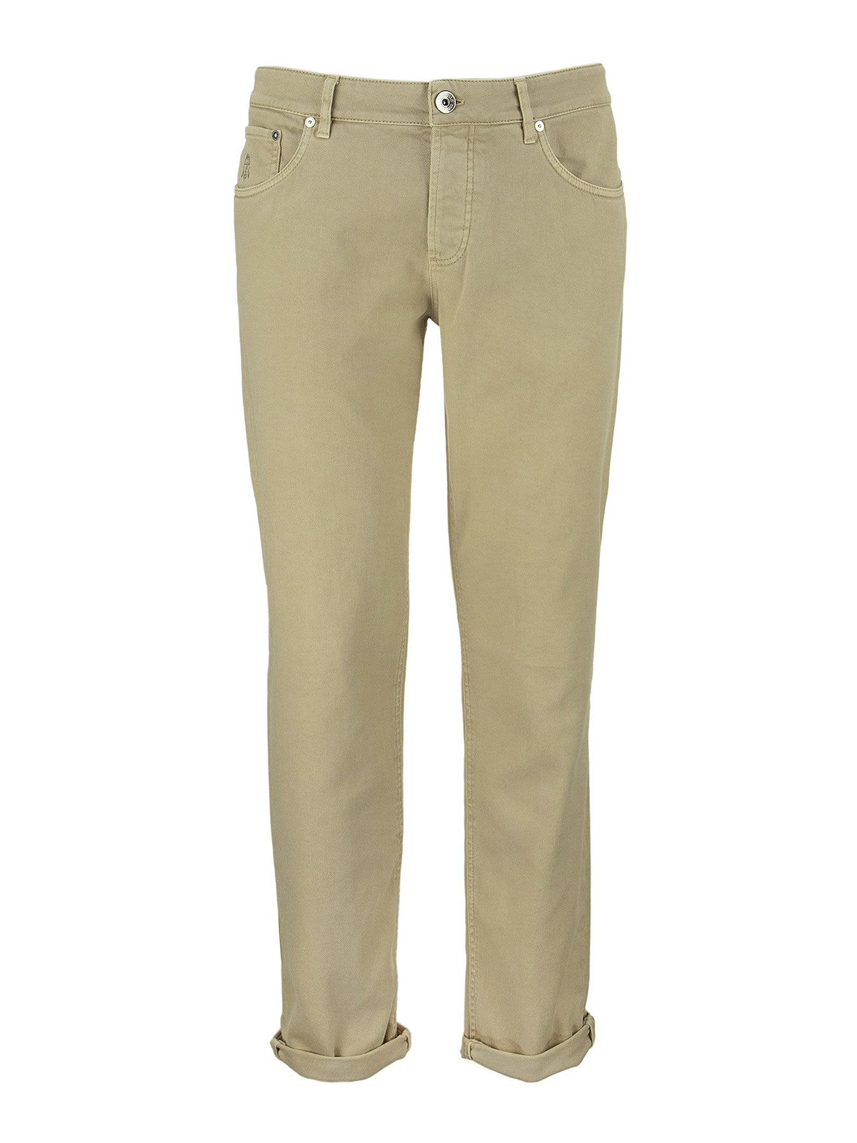 Brunello Cucinelli Garment Dyed Straight Leg Jeans In Grey