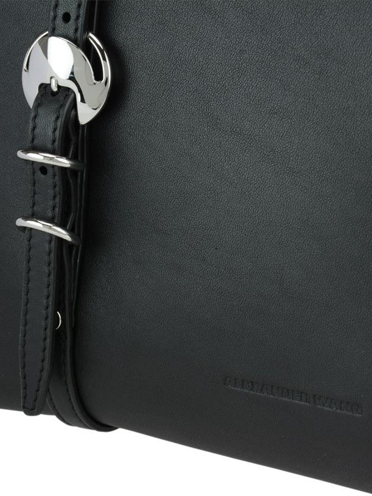 Alexander Wang Ace rings details leather shopper qGPONV