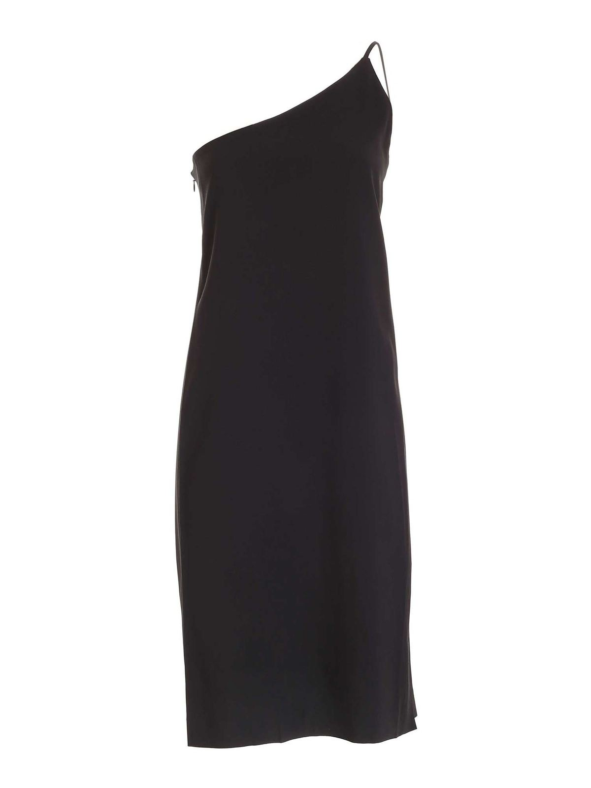 Acne Studios ONE-SHOULDER DRESS IN BLACK