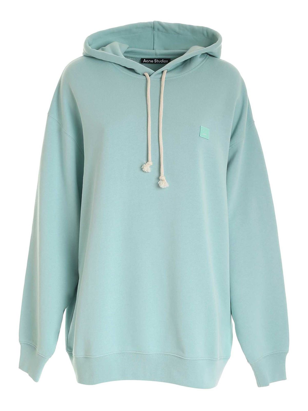 Acne Studios LOGO SWEATSHIRT IN SPEARMINT GREEN COLOR