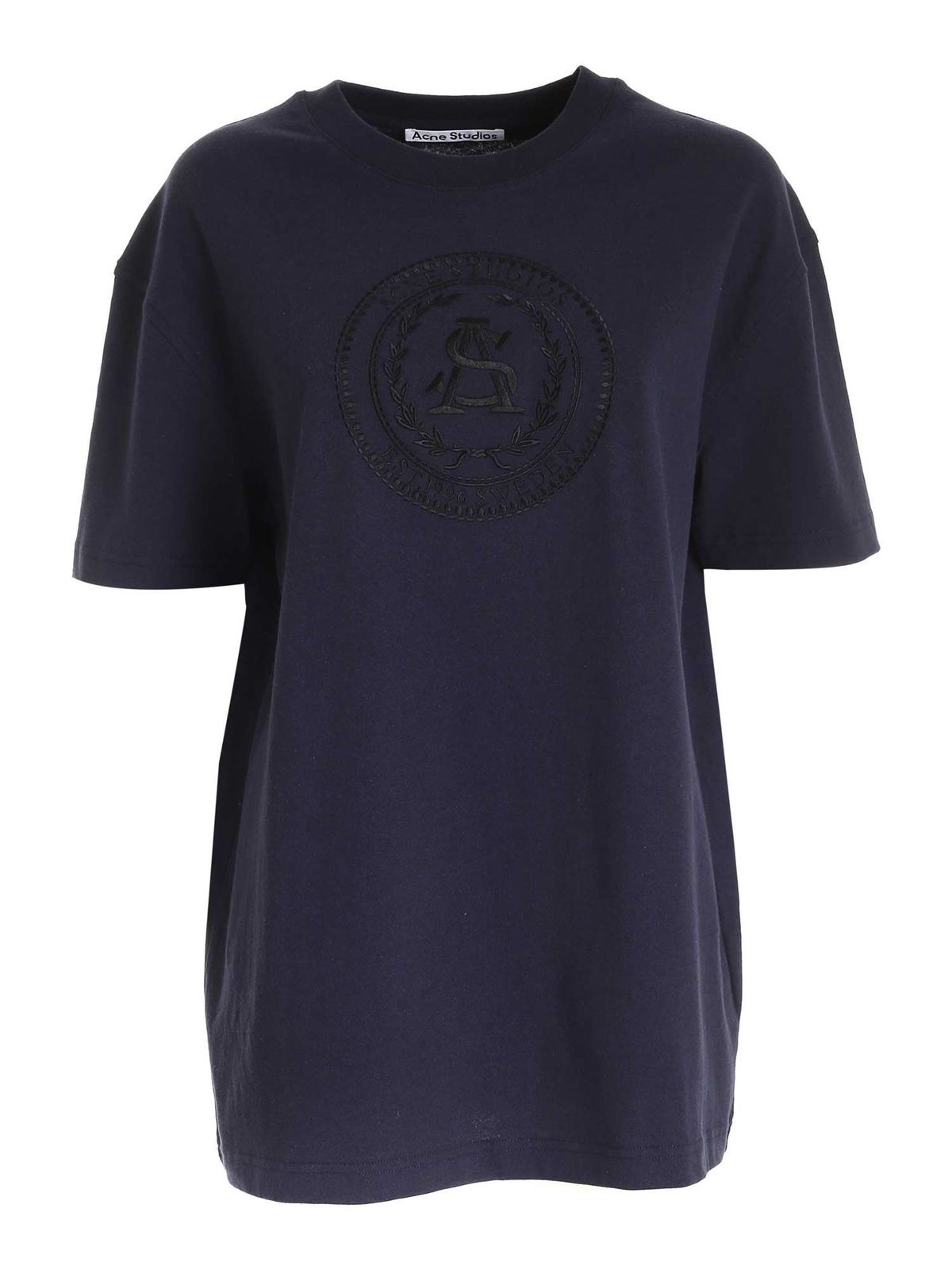 Acne Studios EMBROIDERY T-SHIRT IN BLUE
