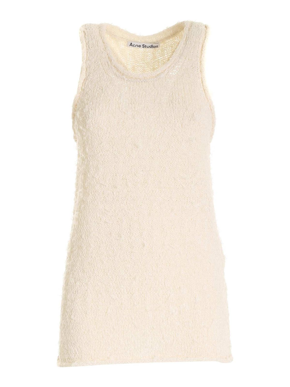Acne Studios KNITTED TOP IN CREAM COLOR