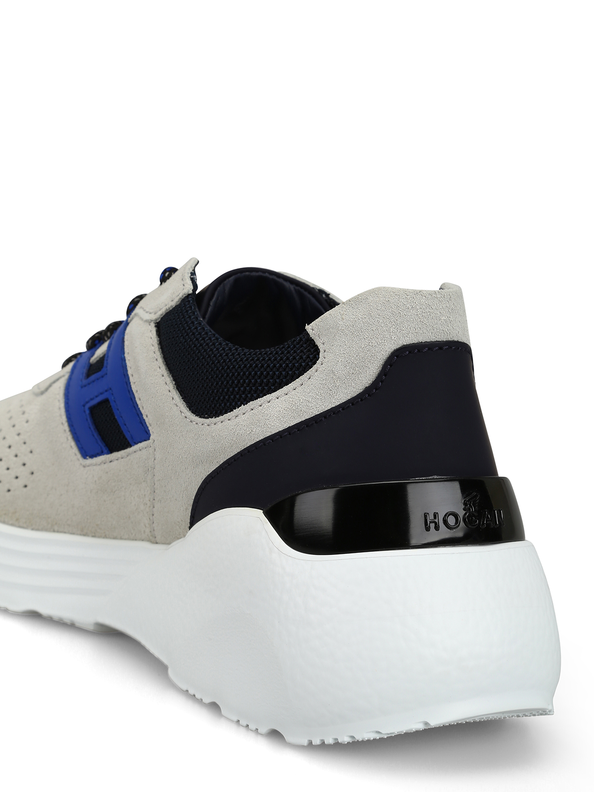 Trainers Hogan - Active One beige and blue sneakers ...