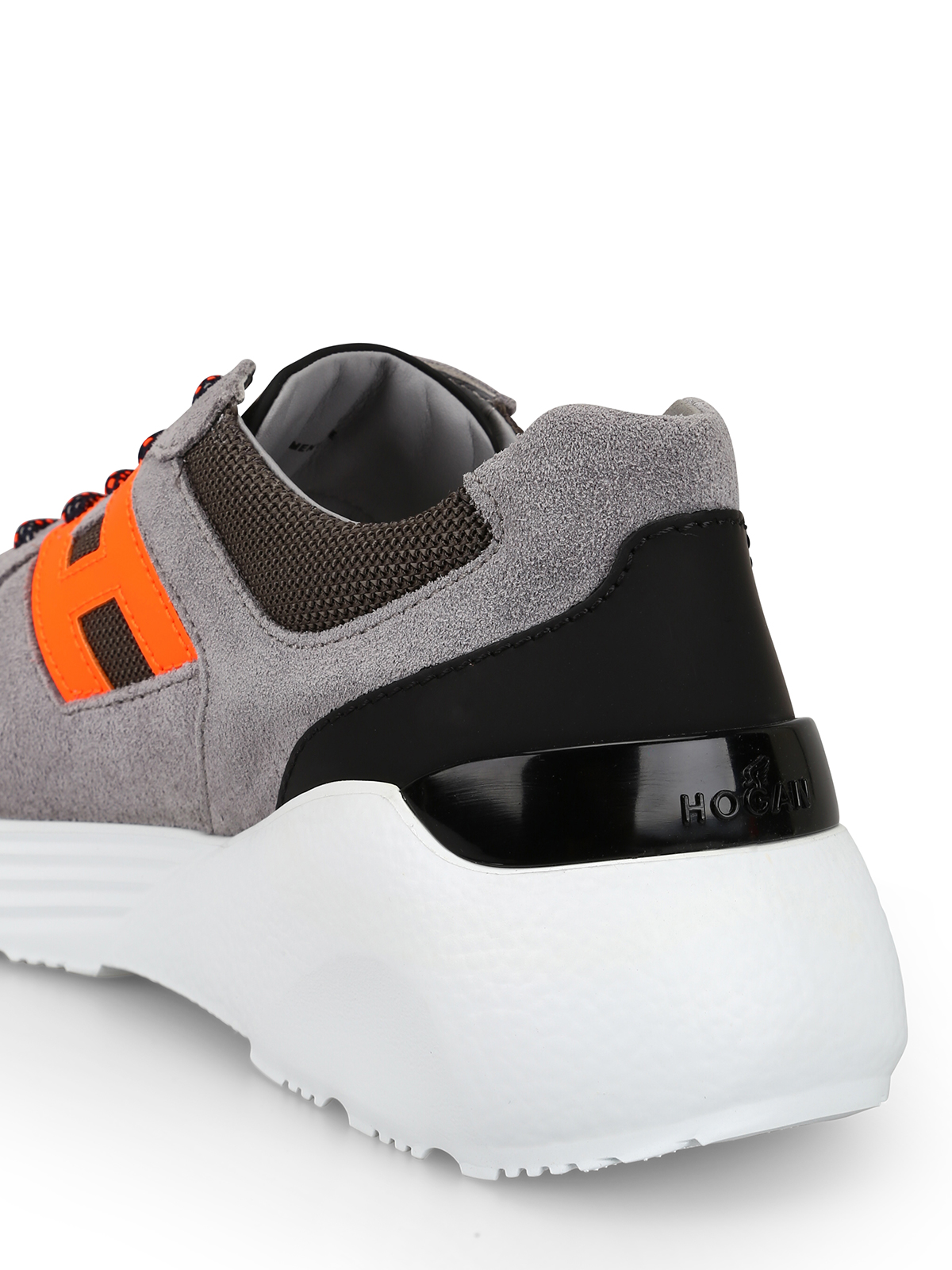 Trainers Hogan - Active One grey and orange sneakers ...