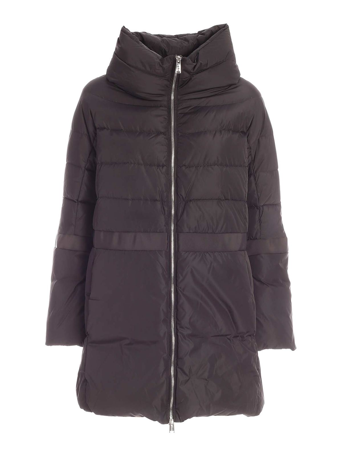 ADD LOGO DOWN JACKET IN ANTHRACITE COLOR