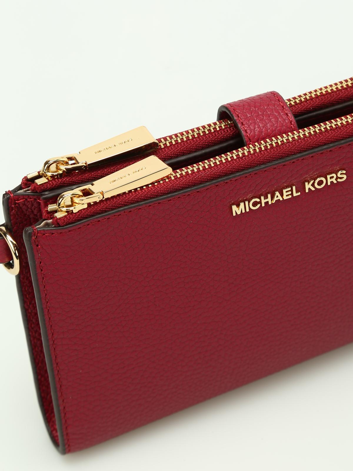 ecf0806e8f Michael Kors - Portafoglio Adele rosso gelso - portafogli ...