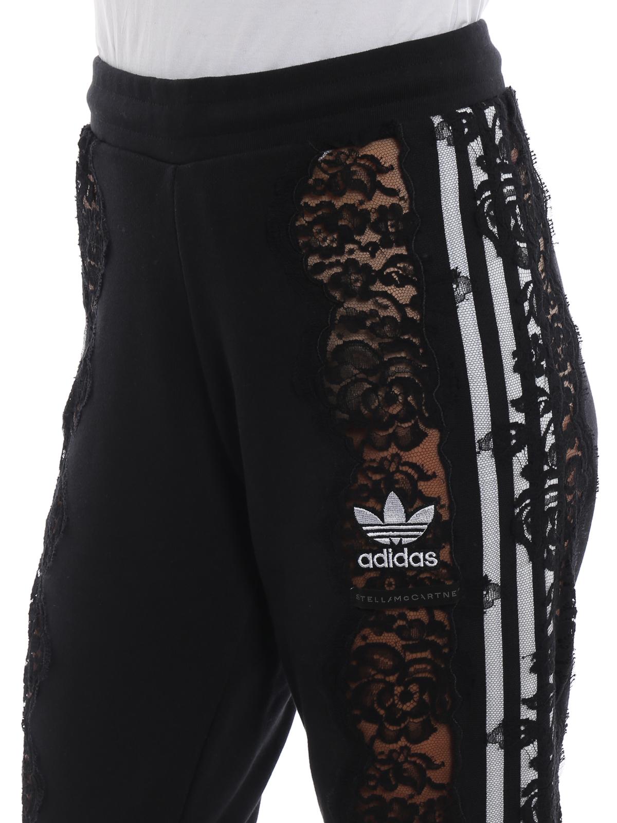 Adidas by Stella McCartney See through lace detail black