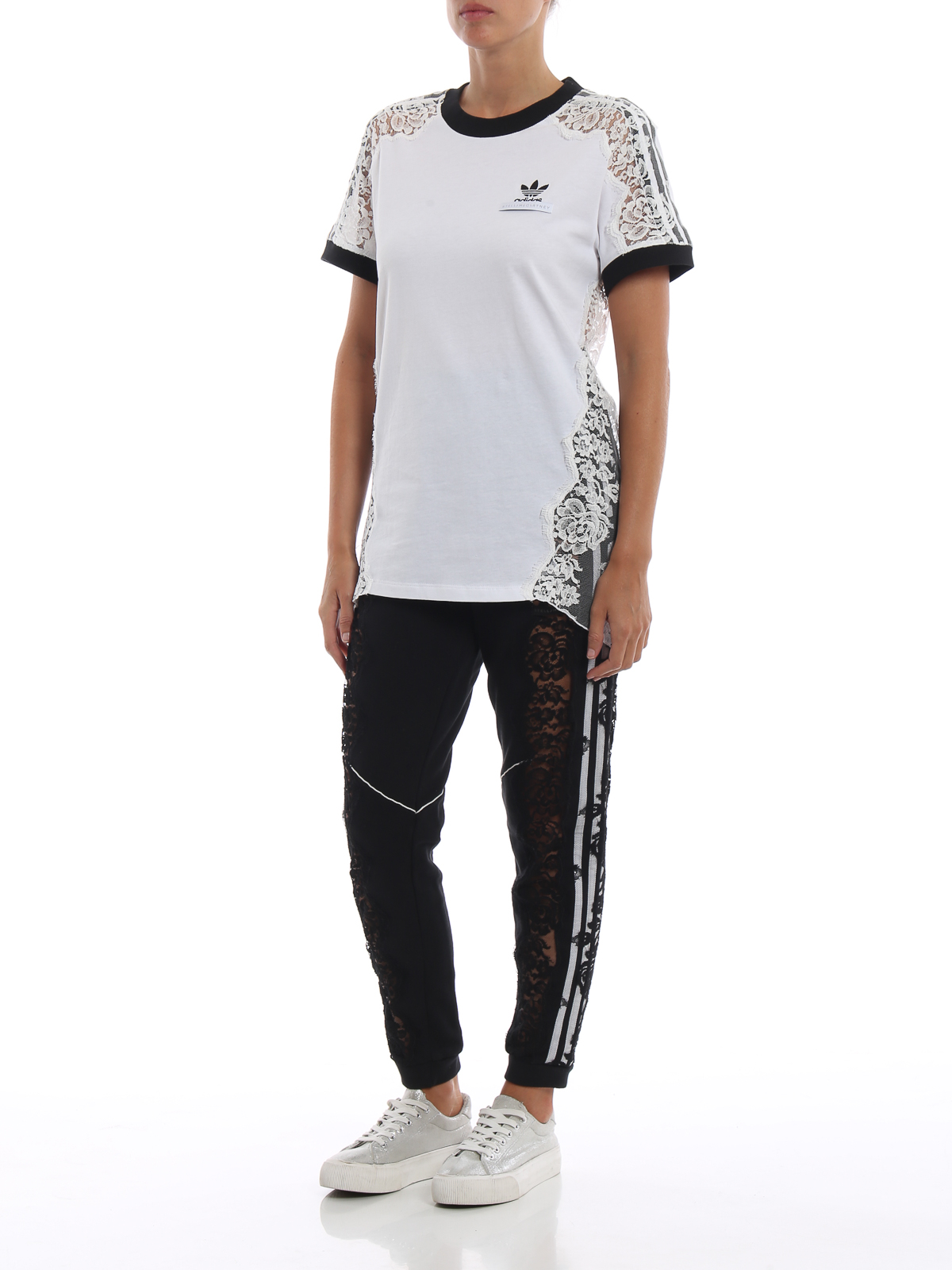 b2729a1b56 ADIDAS BY STELLA MCCARTNEY: tracksuit bottoms online - See-through lace  detail black track