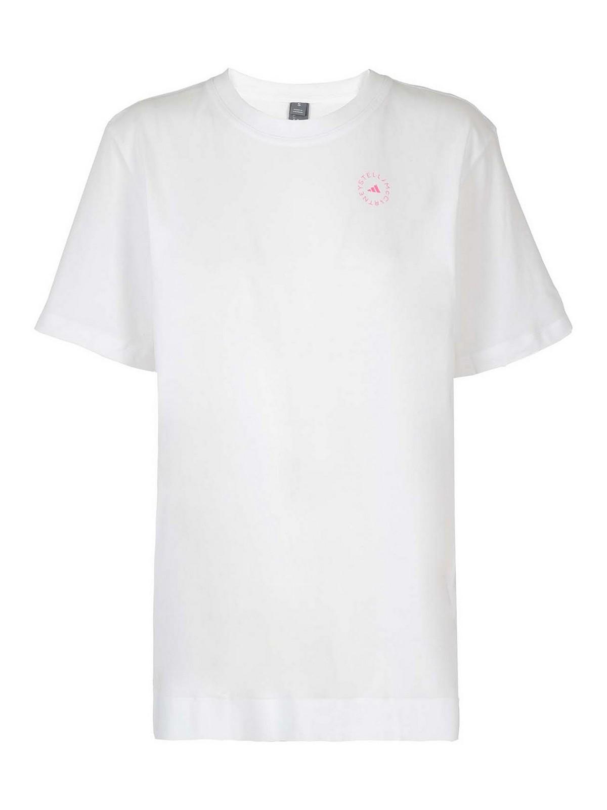 Adidas By Stella Mccartney T-shirts LOGO PRINT COTTON T-SHIRT
