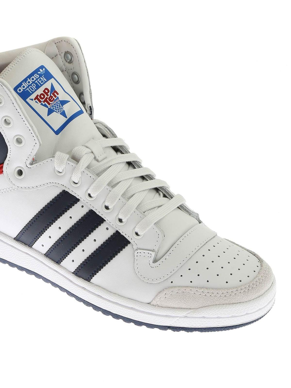 Adidas Originals Sneakers Top Ten Hi bianche sneakers
