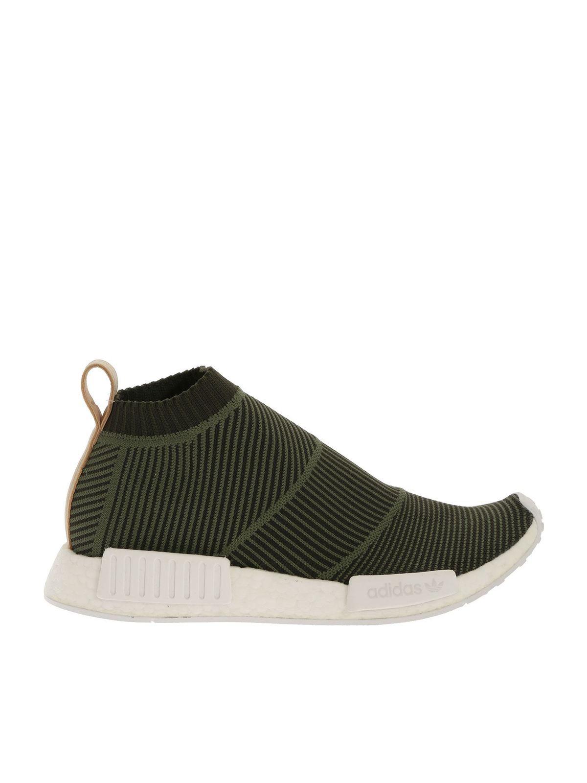 Adidas Originals - NMD CS1 Primeknit sneakers in green - trainers ...