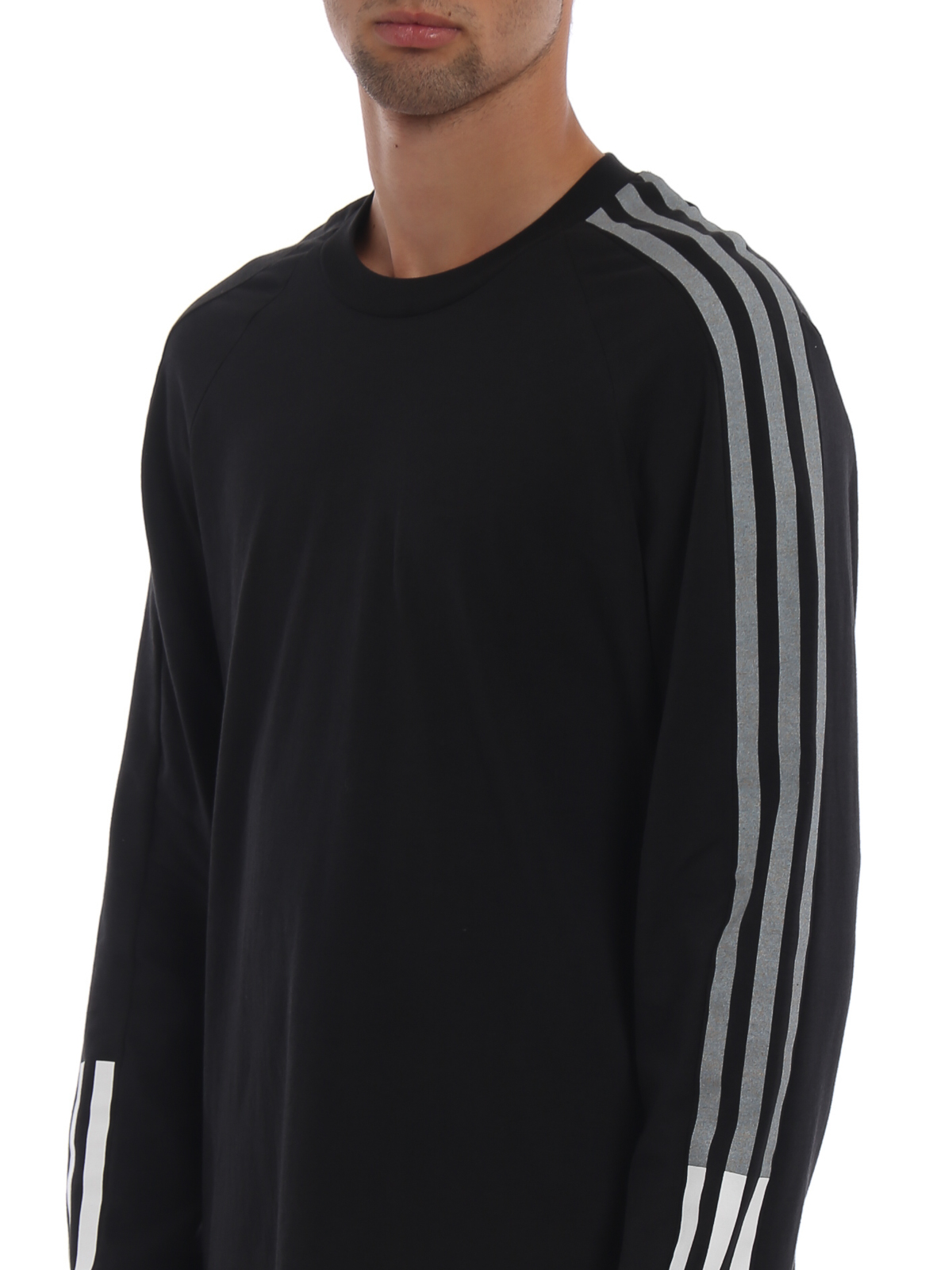 f525da0caf6 Adidas Y-3 - 3-Stripes Tee long sleeves black T-shirt - t-shirts ...