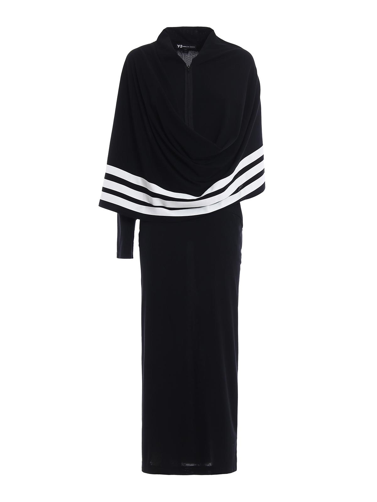 Adidas Y-3 - Vestido Largo - Kimono - Vestidos largos - CY8388 BLACK ... bfa3395f51b