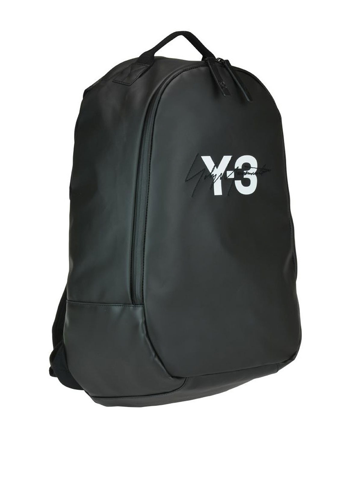40a6fb4e9 Adidas Y-3 - Y-3 Logo waxed canvas backpack - backpacks - DQ0624