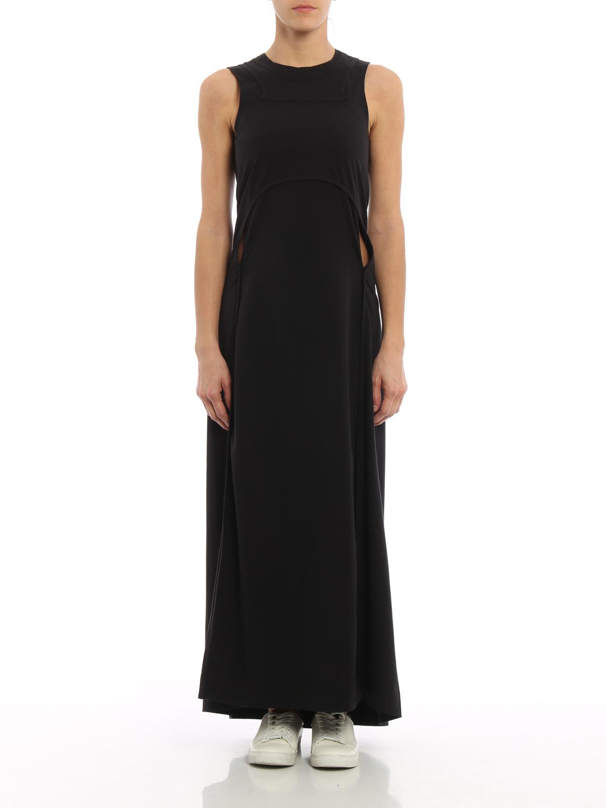 Adidas Y 3 Cotton Jersey Maxi Dress Maxi Dresses