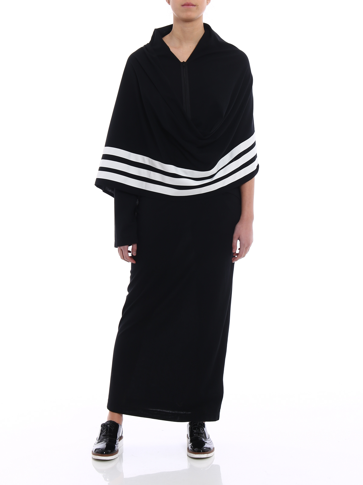 Suponer Alacena temor  Adidas Y-3 - Maxi kimono dress with scarf - maxi dresses -  CY8388BLACKCOREWHITE
