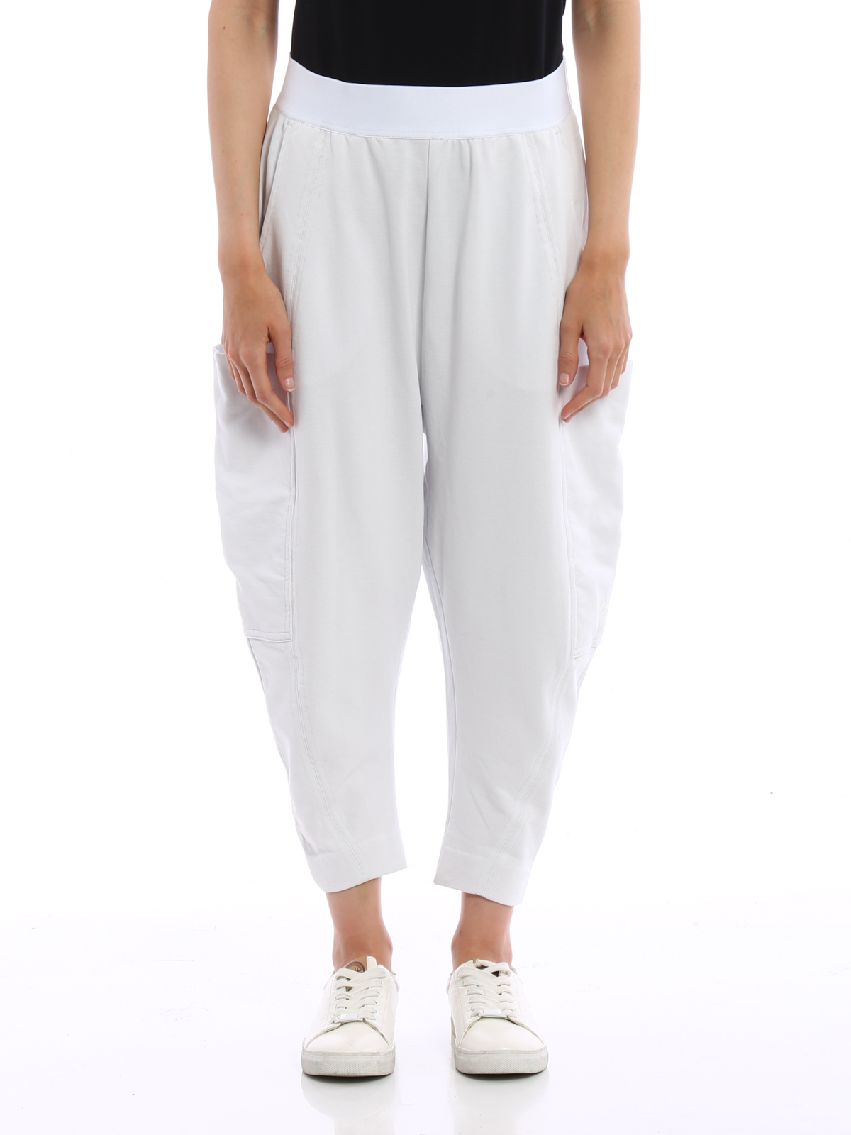 fc502bce2c817 Adidas Y-3 - Cocoon jersey pants - tracksuit bottoms - BR8239 WHITE
