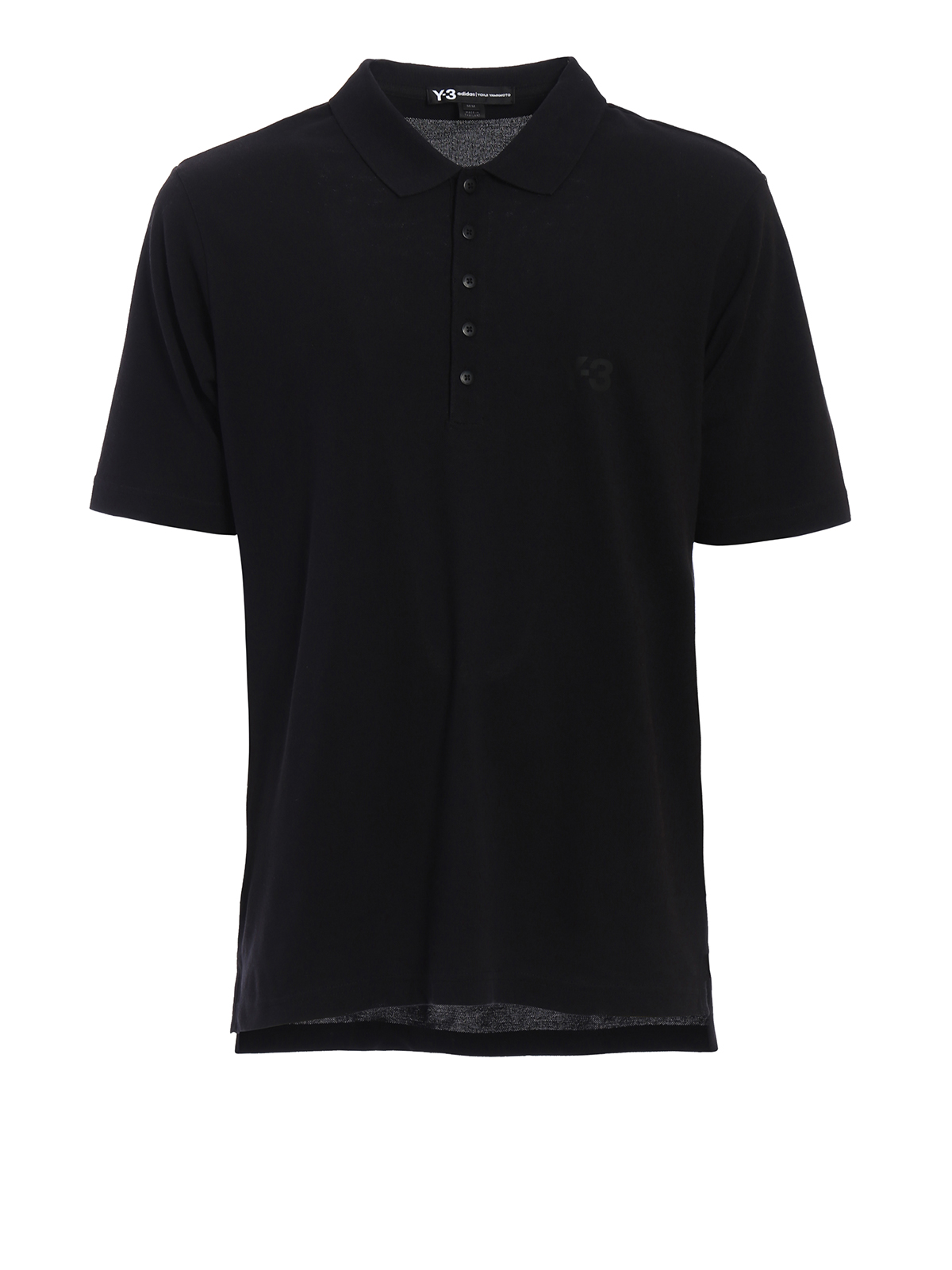 Logo print pique polo shirt by adidas y 3 polo shirts for Polo shirts for printing