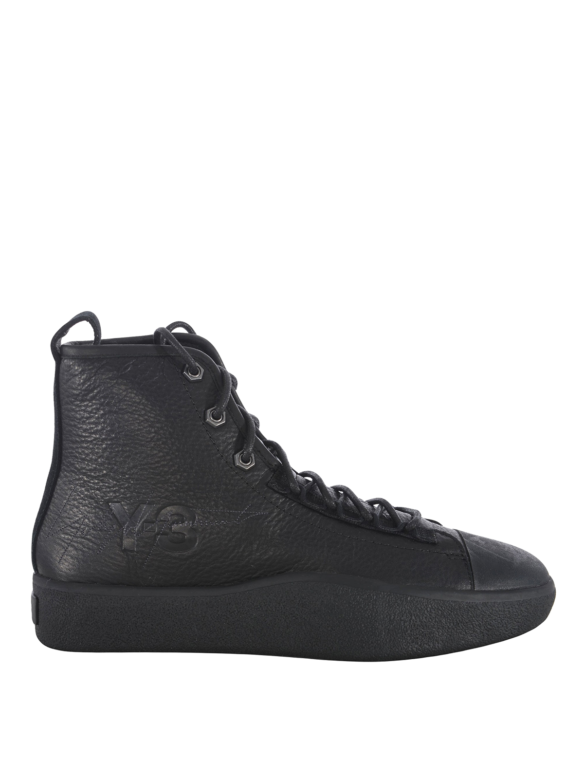 separation shoes c93fc 880ae ADIDAS Y-3  sneakers - Sneaker alte in pelle con punta in gomma