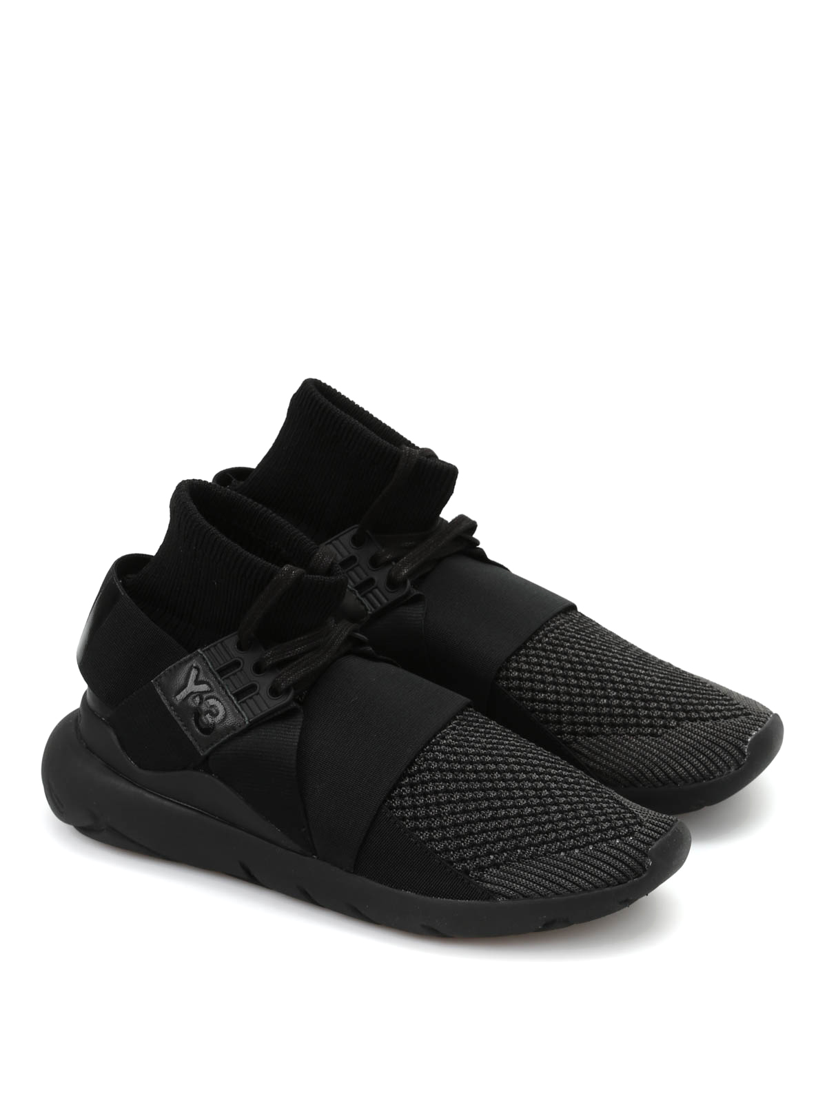 9092975f8e9d5 Adidas Y-3 - Y-3 Qasa Elle Lace Knit sneakers - trainers ...