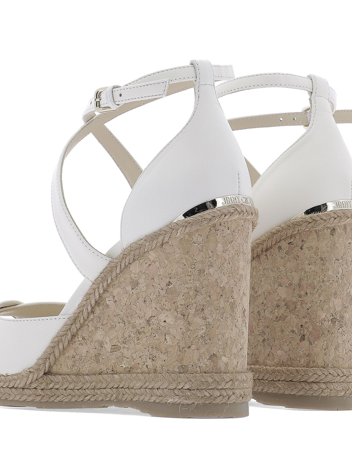 11e70208cb0 Jimmy Choo - Alanah 105 white leather wedge sandals - sandals ...