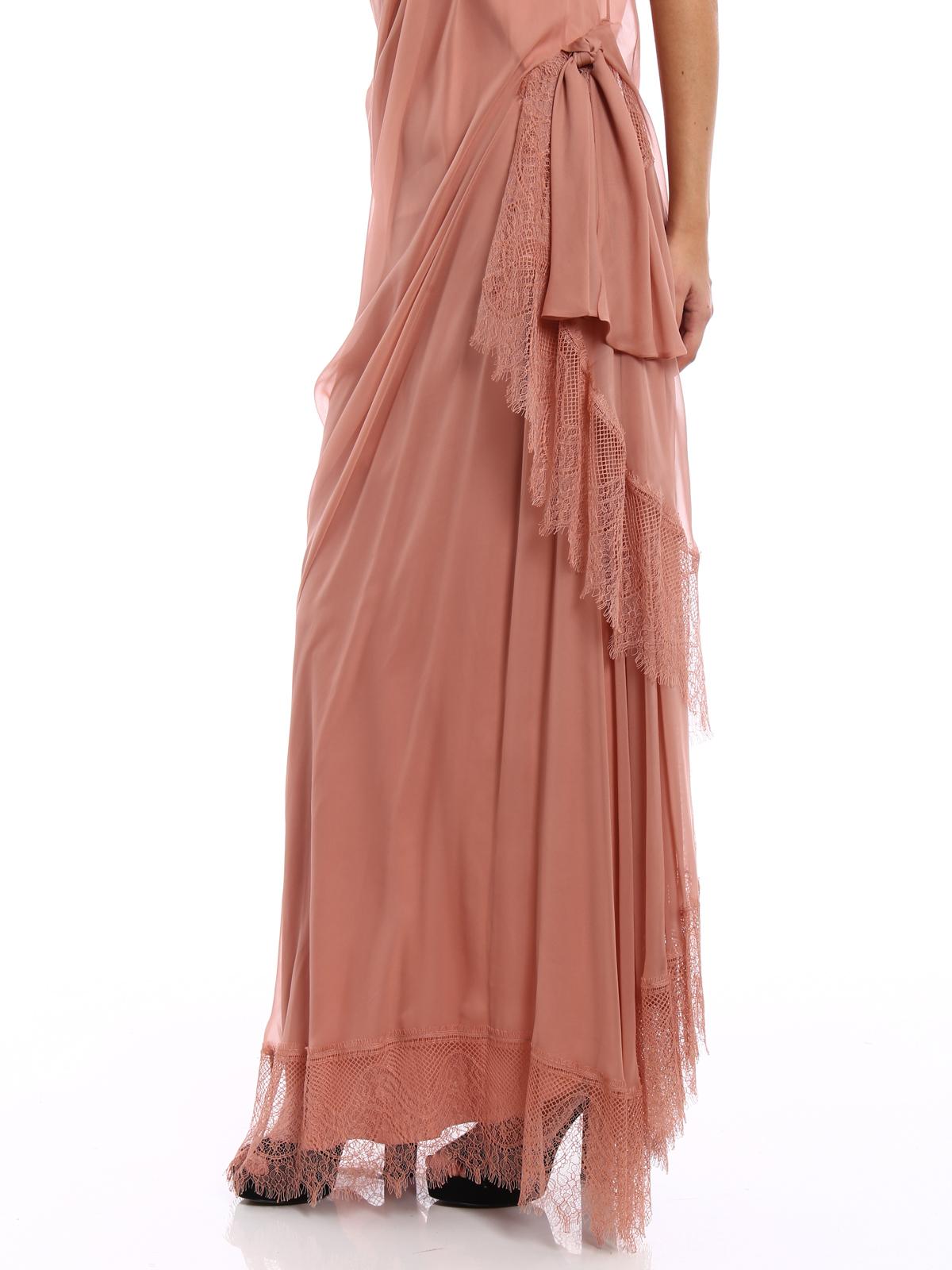 0f556d442ed Alberta Ferretti - One shoulder silk draped dress - evening dresses ...