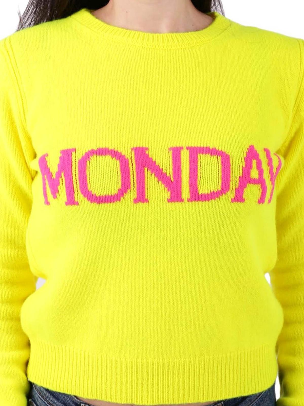 Alberta Ferretti Rainbow Week Monday Sweater Crew Necks