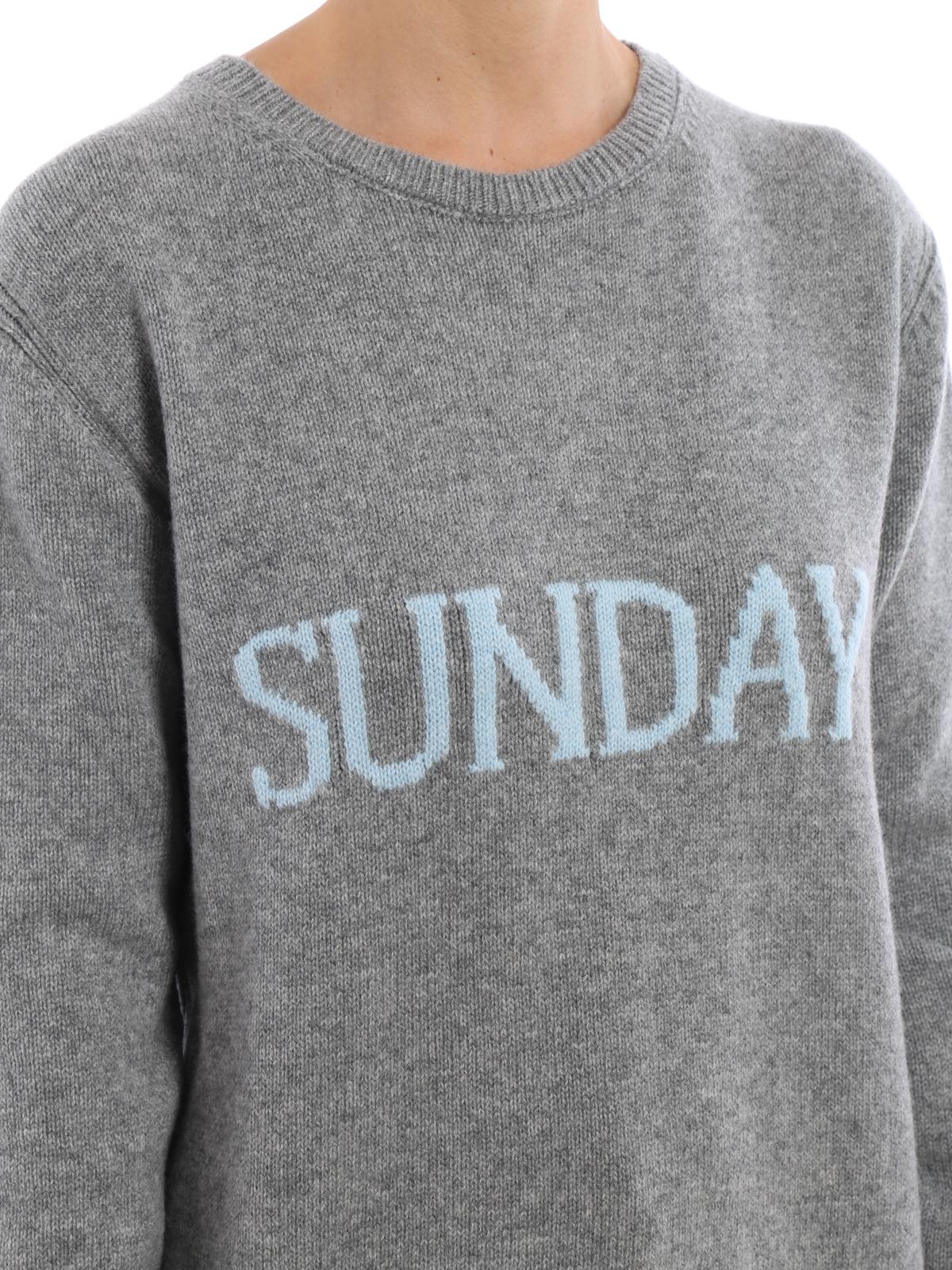 Sunday wool and cashmere sweater by Alberta Ferretti - crew necks ...