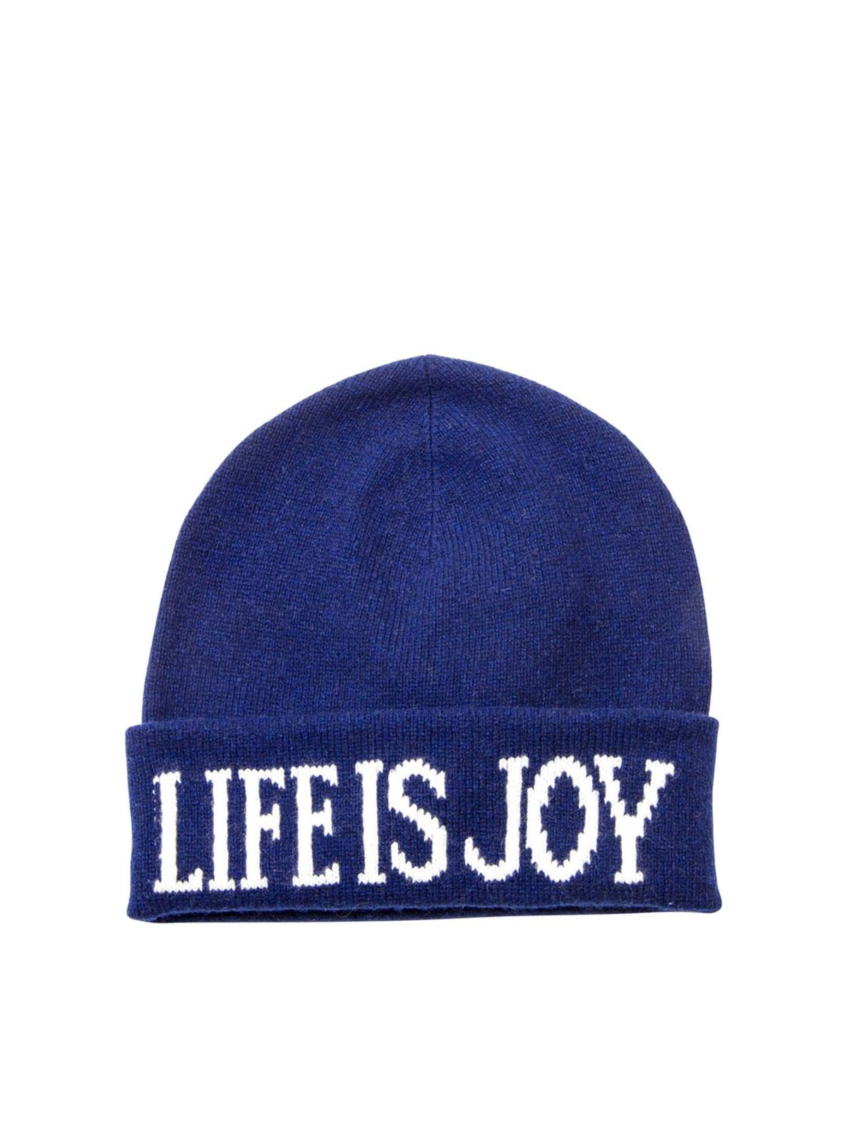 ALBERTA FERRETTI LIFE IS A JOY BEANIE IN BLUE