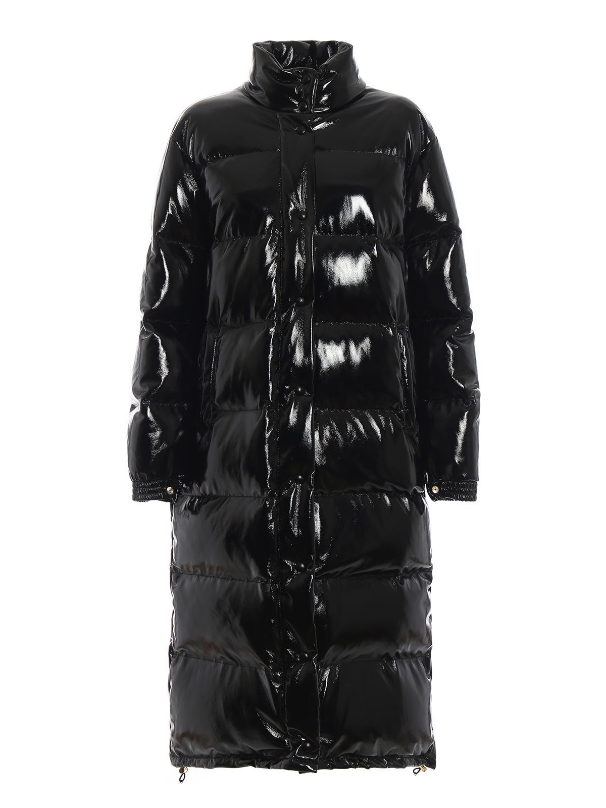 60cd3bac8c3 ALBERTA FERRETTI: long coats - Rainbow Week vinyl-effect nylon padded coat