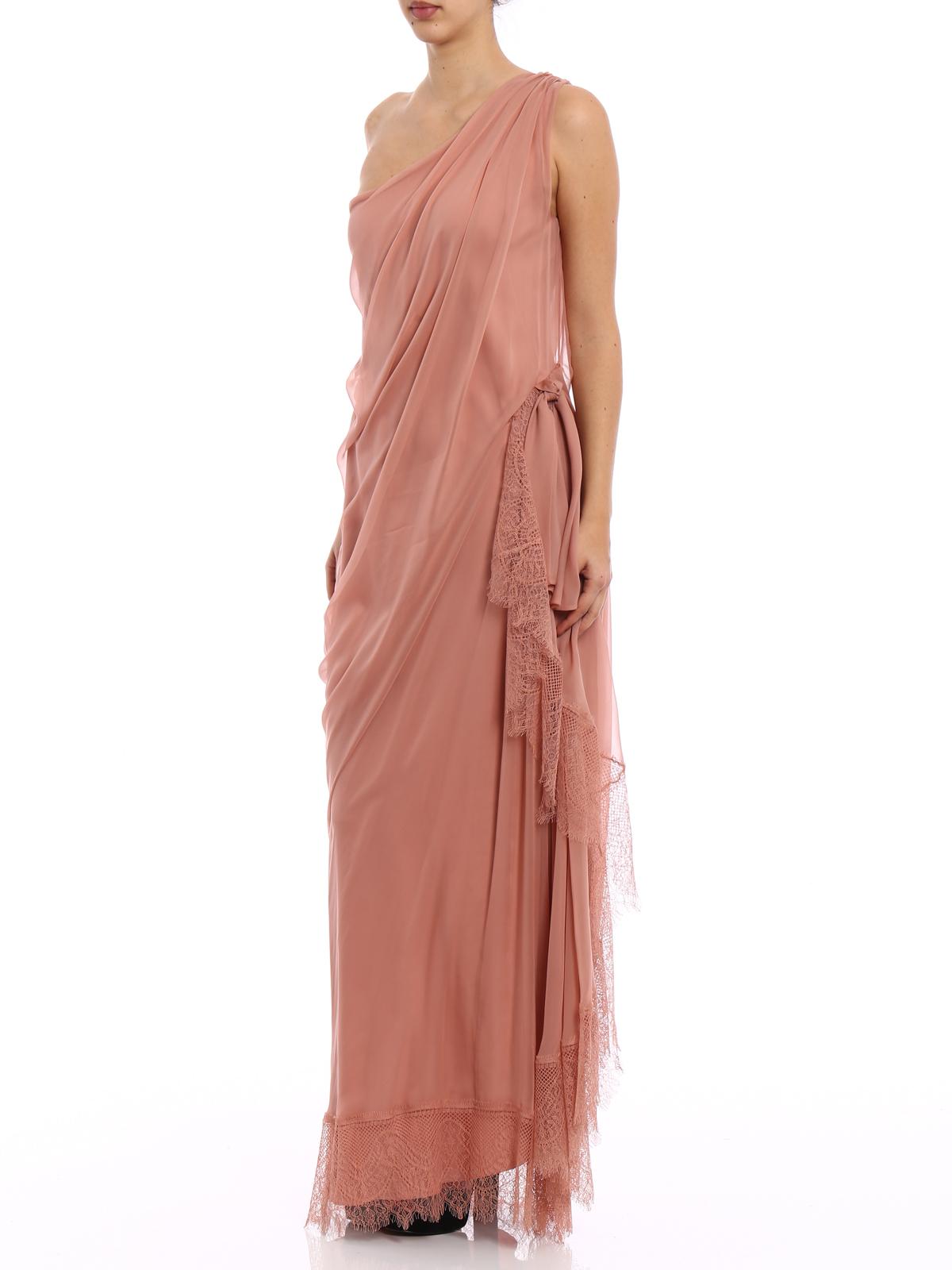 6abf2020135 ALBERTA FERRETTI: evening dresses online - One shoulder silk draped dress