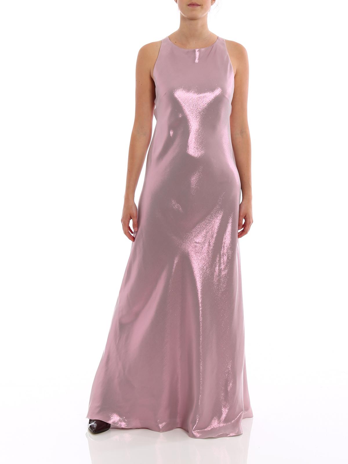 online store a3610 7a032 Alberta Ferretti - Abito lungo in misto seta cangiante ...