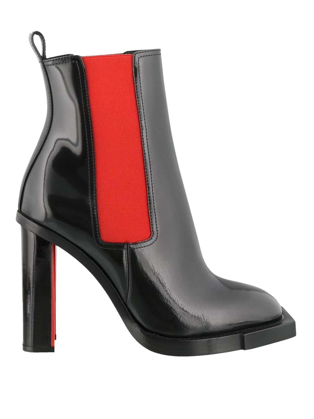 88cb4da4af44 ALEXANDER MCQUEEN  ankle boots - Brushed leather two-tone heeled booties