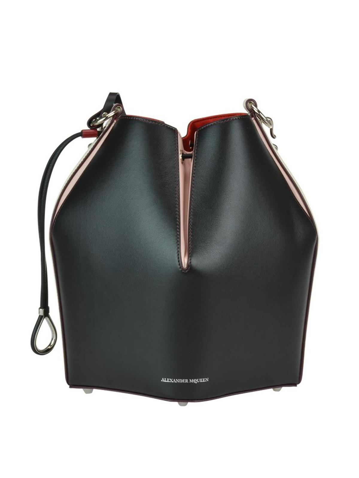ad62f3b1952 Alexander Mcqueen - Colour block leather Bucket Bag - Bucket bags ...