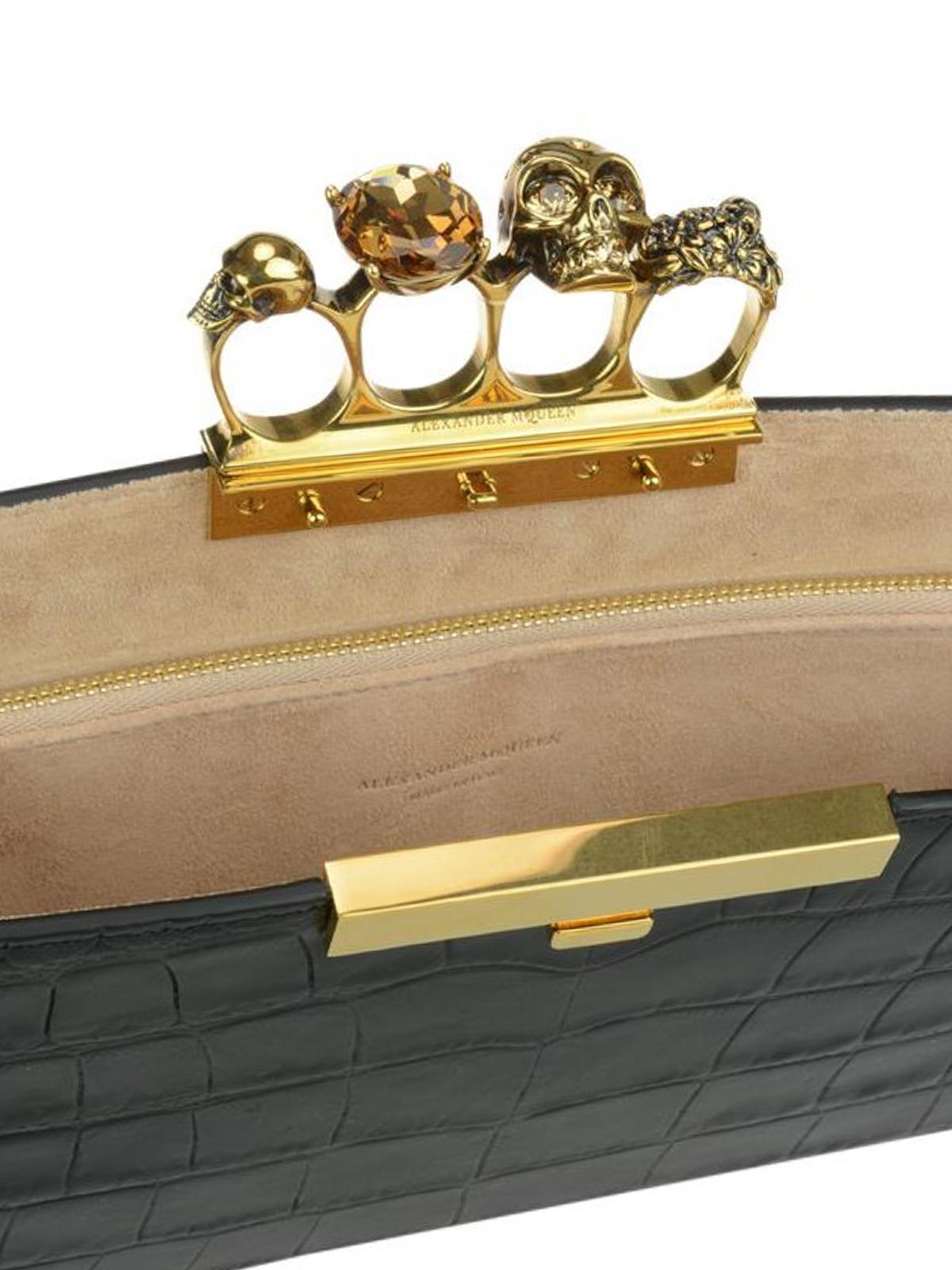 Alexander McQueen Four Ring clutch cJomHo7a