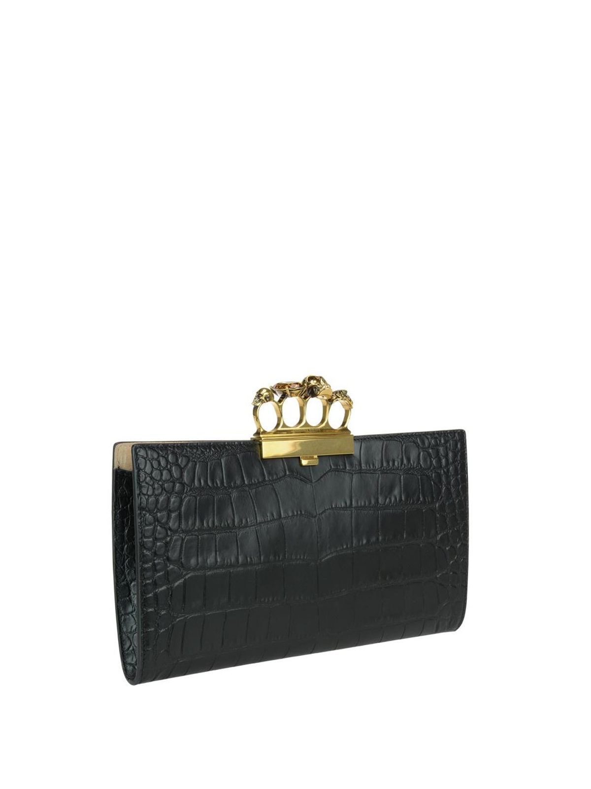 Skull four rings clutch by Alexander Mcqueen - clutches ...