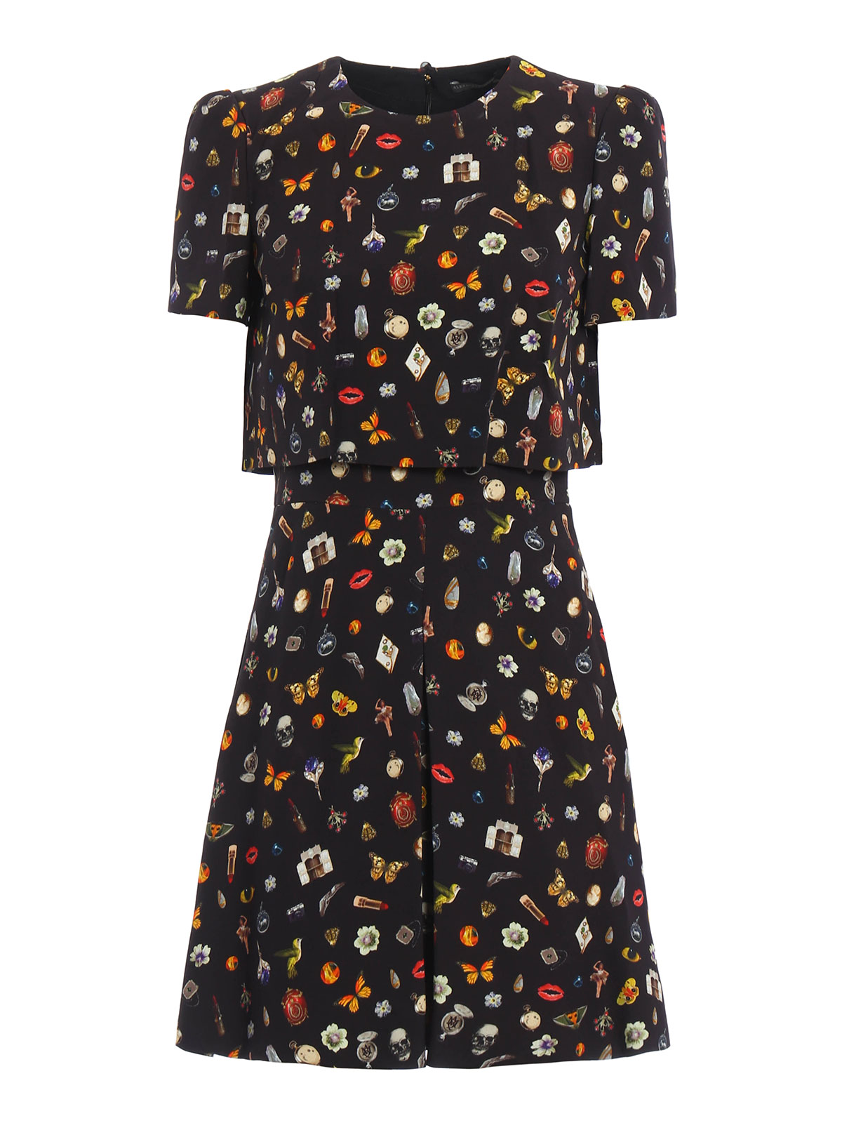 Alexander Mcqueen - Obsession print dress - cocktail ...