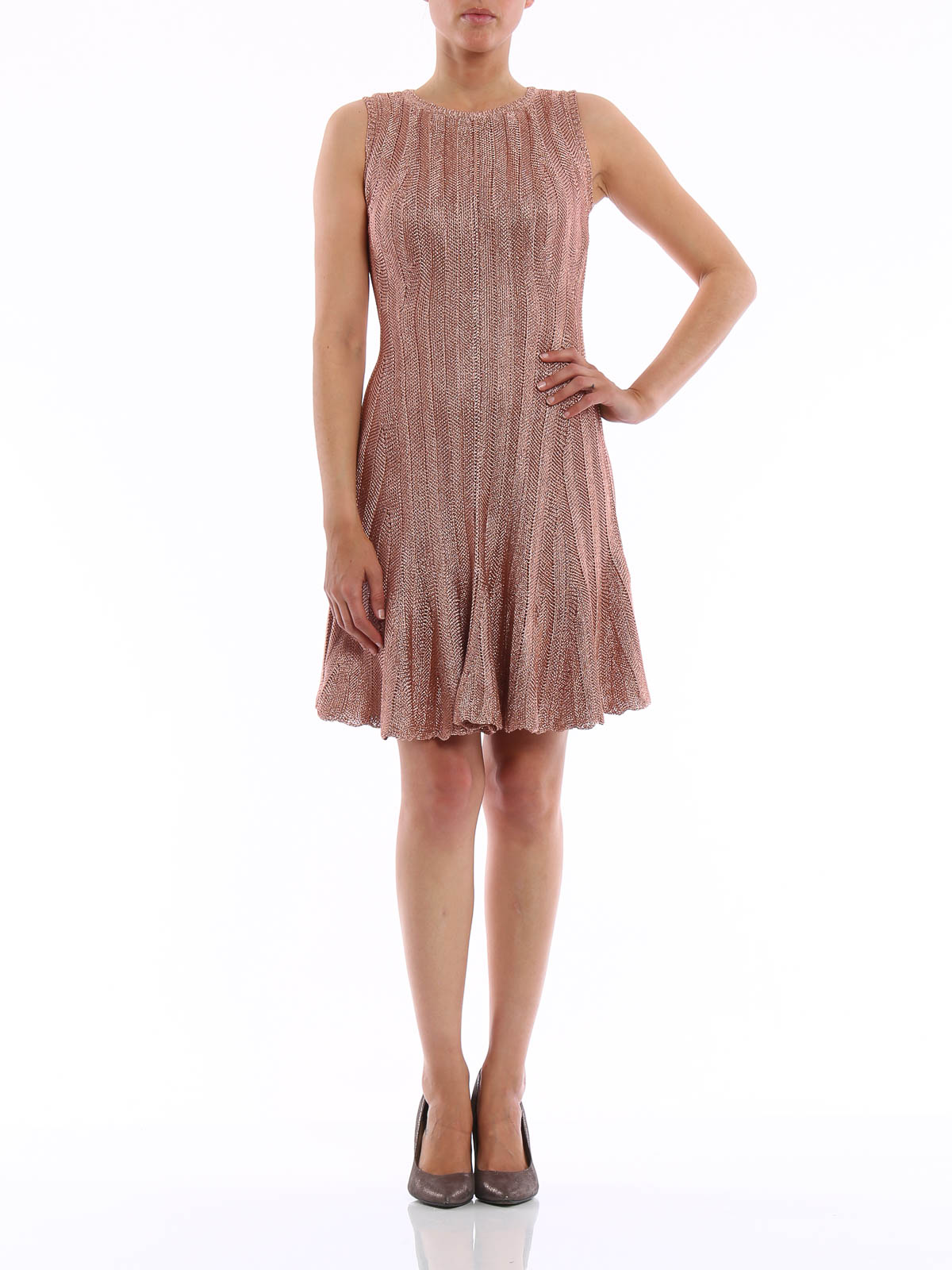 Knitted viscose dress by Alexander Mcqueen - cocktail ...