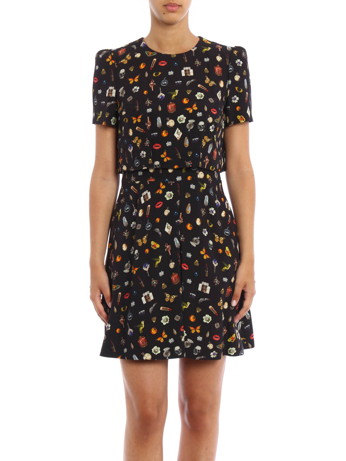 Obsession print dress by Alexander Mcqueen - cocktail ...