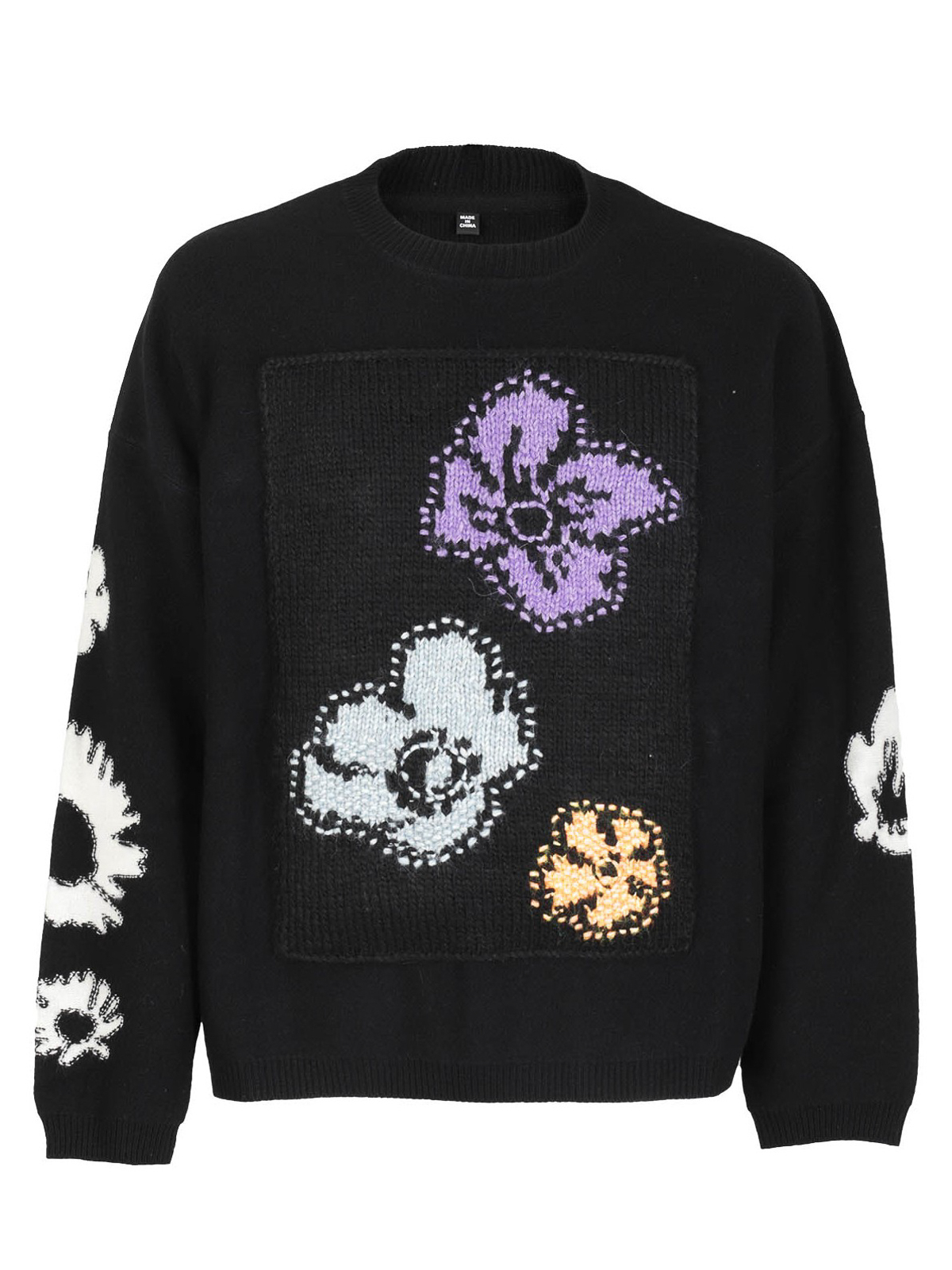 Alexander Mcqueen FLORAL EMBROIDERY CREW NECK