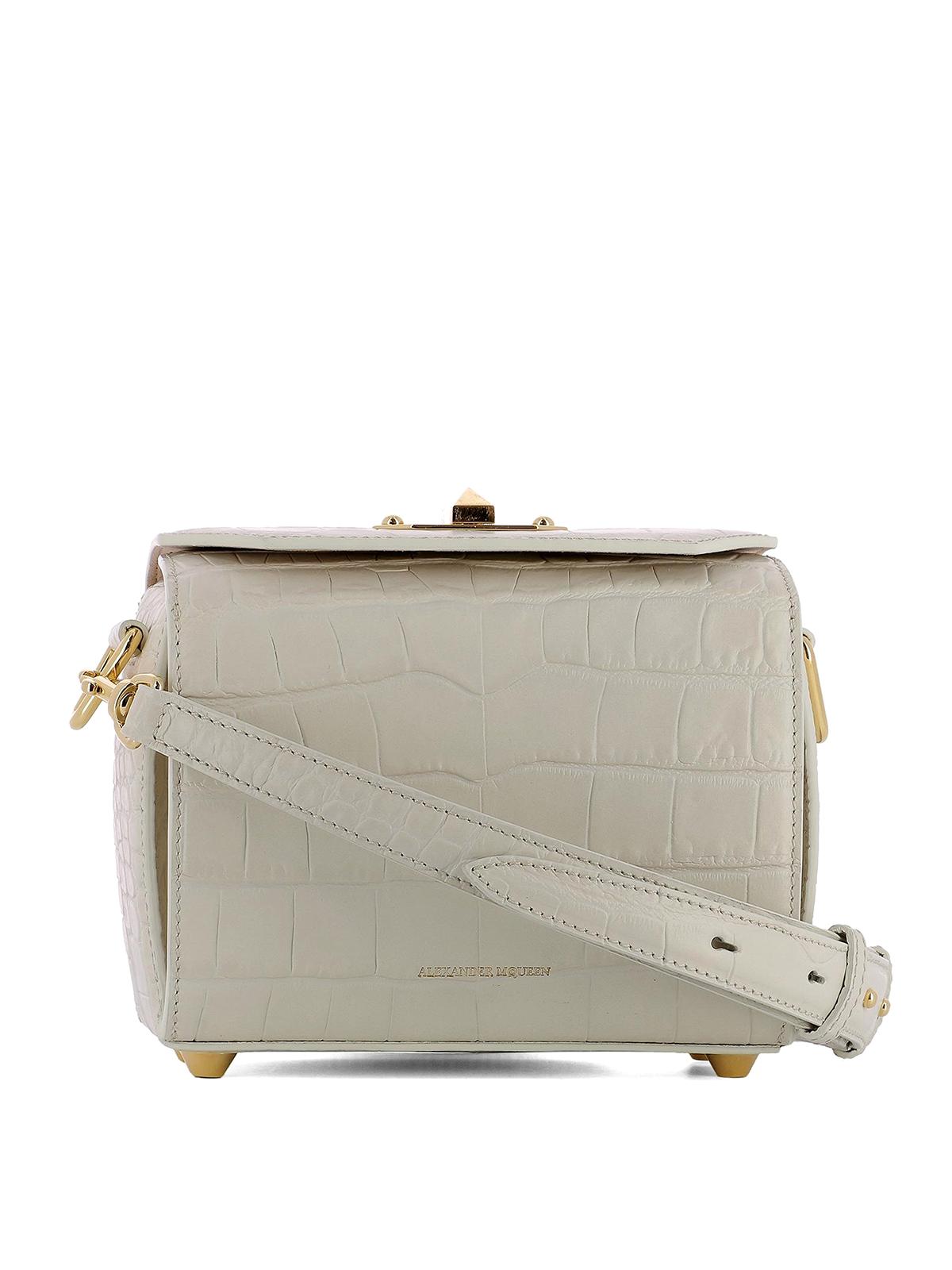 Alexander McQueen Box Bag 19 croco print bag 0xUjC4g