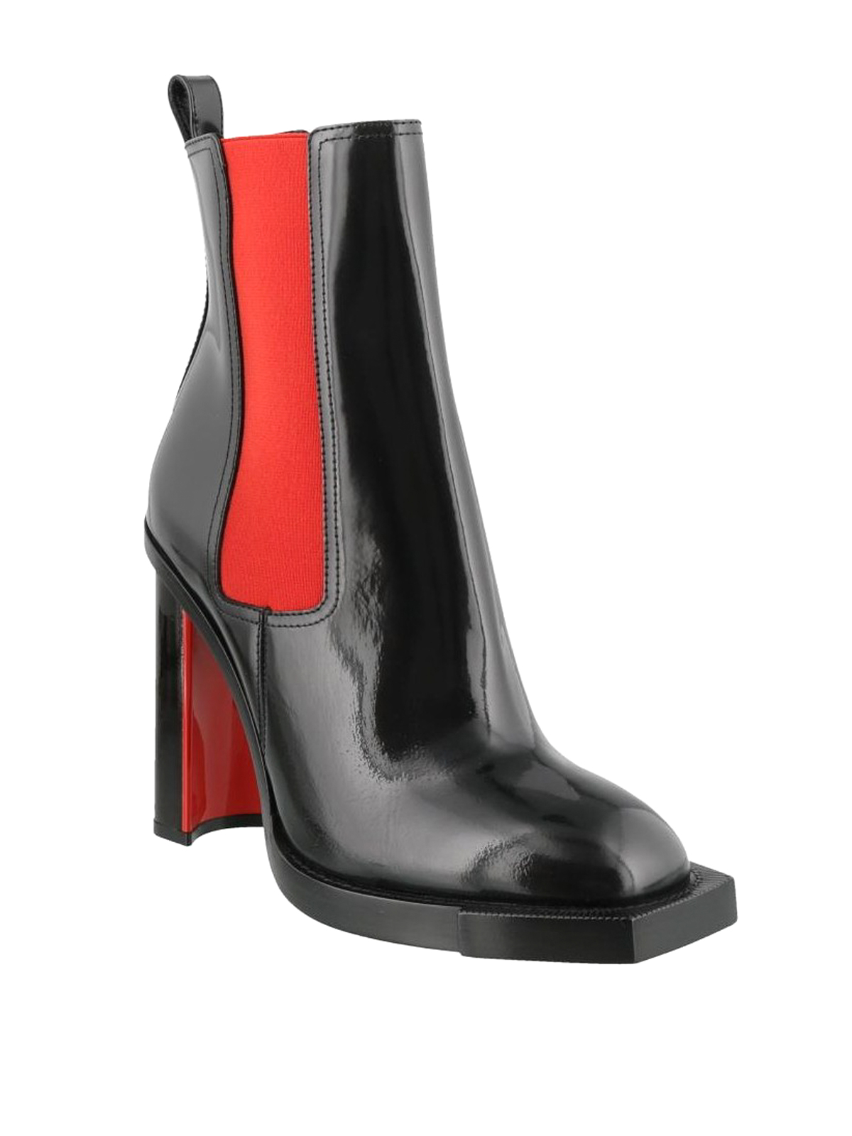 a23c43ae082e ALEXANDER MCQUEEN  ankle boots online - Brushed leather two-tone heeled  booties