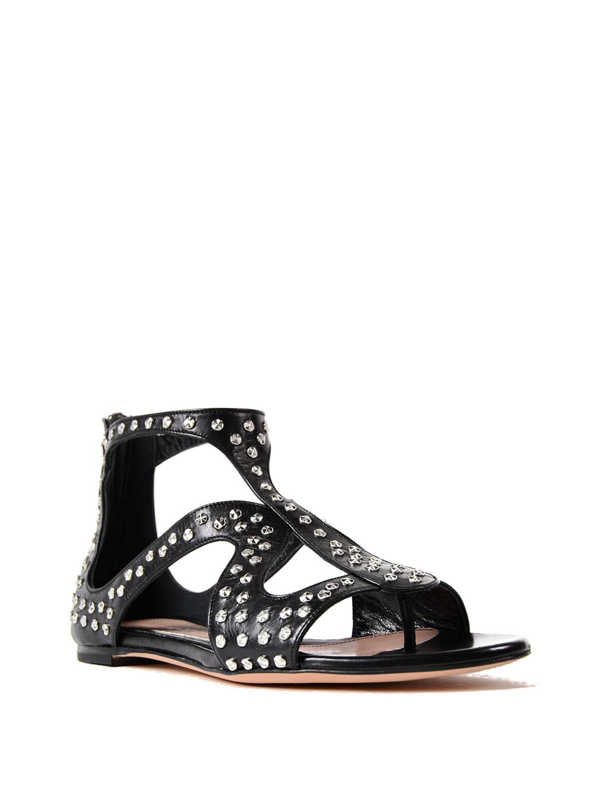Alexander Cage design studded flat sandals Mcqueen sandals hCtsQdr